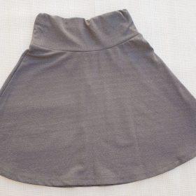 הדפס חצאית אפור נצנצים
