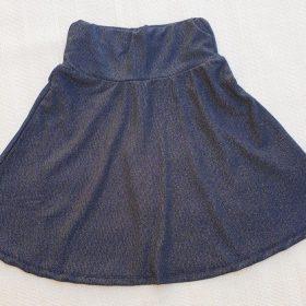 הדפס חצאית כחול נצנצים