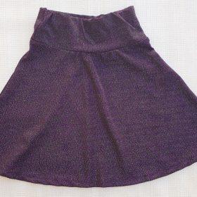 הדפס חצאית סגול חציל נצנצים