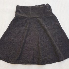 הדפס חצאית שחור נצנצים