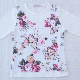 חולצת טוהר הדפס פרחים 2