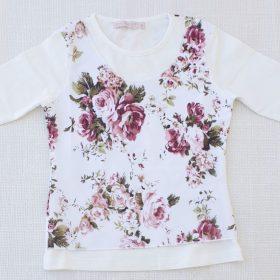 חולצת טוהר הדפס פרחים 1
