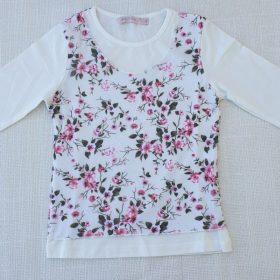 חולצת טוהר הדפס פרחים 3