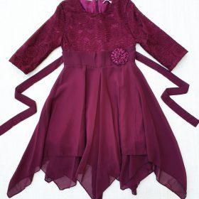 שמלת נופר בורדו