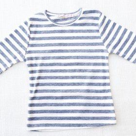 חולצת נופך אפור-לבן