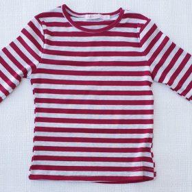 חולצת נופך בורדו-אפור