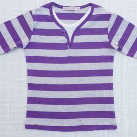 חולצת יהלי סגול אפור