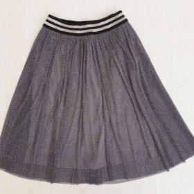 חצאית אמיליה אפור נצנצים