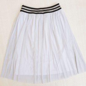 חצאית אמיליה לבן נצנצים