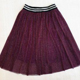 חצאית אמיליה סגול חציל נצנצים