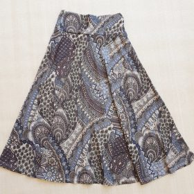 חצאית מרלו מקסי הדפס 4