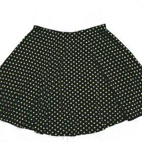 חצאית פנינית שחור נקודות ירוקות