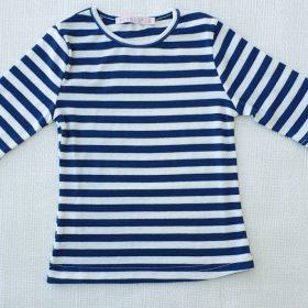 חולצת נופך כחול-לבן