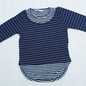 חולצת דליה כחול לבן