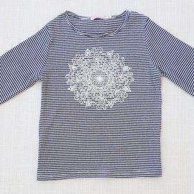 חולצת רוז כחול ניבי