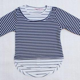 חולצת דליה לבן כחול