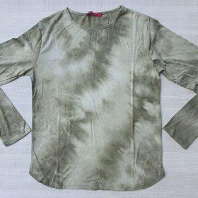 חולצת טאי דאי זית