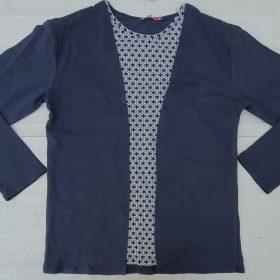 חולצת יערה ארוכה כחול אתני