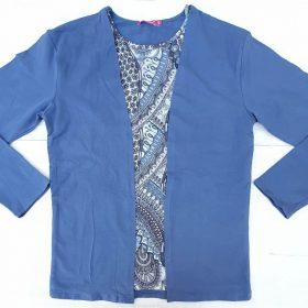 חולצת יערה ארוכה כחול טייס