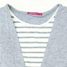 חולצת מאיה אפור מלנג'